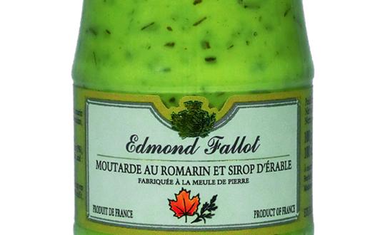 Fallot moutarde au romarin sirop d 39 rable - Moutarde fallot vente ...