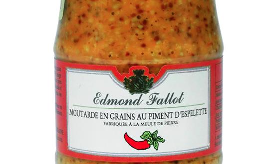 Fallot moutarde en grains au piment d 39 espelette - Moutarde fallot vente ...