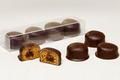 4 Mini-Nonnettes enrobées chocolat - Fourrées Abricot