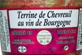 Terrine de chevreuil au vin de Bourgogne