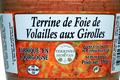 Terrine de Foie de Volaille aux Girolles