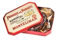 Boîte métal Dominos de Nougat de Montélimar tendre enrobés chocolat noir et lait-orange