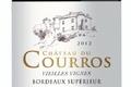AOC Bordeaux  Supérieur Rouge - Château du Courros Vielles Vignes 2009 - 6 bouteilles