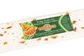 Barre de nougat tendre aux écorces d'orange confites