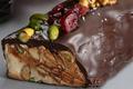 Bûche de nougat tendre au chocolat noir