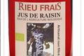 Rieu Frais,  Jus issus de raisins rouge Syrah