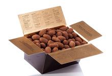 Amandes et noisettes enrobées pâte de truffe cacao
