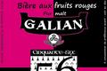 Galian 56, bière aux fruits rouges