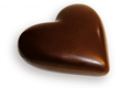 Cœur moulage en chocolat noir