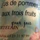 jus de pommes aux trois fruits, ferme de Courtelin