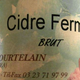 Cidre brut, ferme de Courtelin