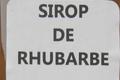 Sirop de rhubarbe