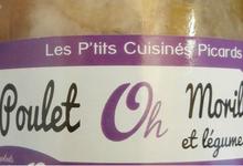 Poulet Ôh morilles et légumes anciens
