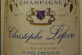 Cuvée Prestige Bio, Champagne Christophe Lefèvre