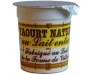 Yaourt Nature au lait entier, ferme de Viltain