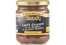 Confit d'oignons au vin d'Irouleguy et au piment d'Espelette Sakari