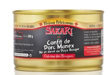 Confit de porc Manex, né et élevé au Pays Basque