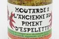 Moutarde traditionnelle aromatisée au piment d'Espelette