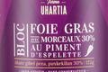Ferme Uhartia,  Bloc de foie gras de canard au piment d'Espelette