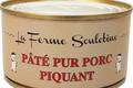 ferme Souletine, Pâté de foie pur porc piquant