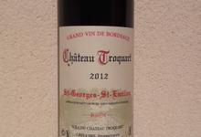AOC Saint Georges Saint Emilion - Chateau Troquart 2012