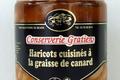 conserverie Gratien, Haricots cuisinés à la graisse de canard