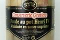 conserverie Gratien,  Poule au pot Henri IV cuisinée Sauce suprême