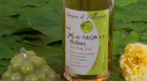 domaine de Villemont, Pétillant- 100% pur Jus de Raisin-