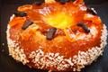 Brioche couronne avec pâte de fruits maison