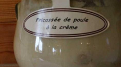 Fricassée de poule à la crème, Ferme des Parrichets
