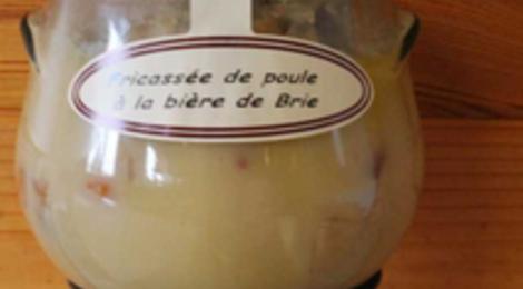 Fricassée de poule à la bière de Brie, Ferme des Parrichets