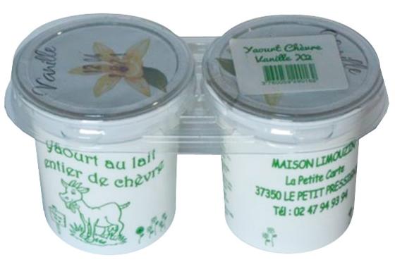 Maison limouzin yaourt lait de ch vre vanille - Yaourt maison lait de chevre ...