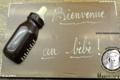 Plaque de naissance en chocolat inscription au choix