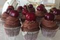 Cupcake chocolat-cerise