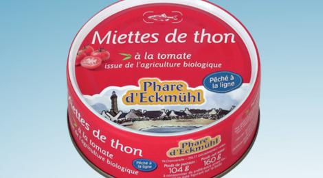Phare d'Eckmühl,   Miettes de thon à la tomate bio
