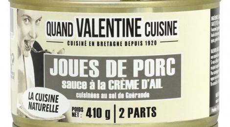 Joues de porc sauce à la crème d'ail