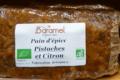 Barame, pain d'épices pistache citron