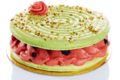 macaron fraise pistache