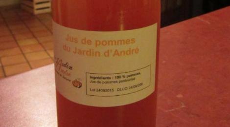 jus de pommes du jardin d'André