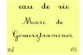 françois Baur, Eau de vie de marc de Gewurztraminer