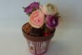 Pot de fleurs en chocolat et fleurs sucre