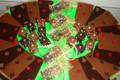 chocolaterie Delfine, cartes et dés à jouer