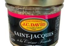 J.C.David, Saint Jacques à la crème fraîche