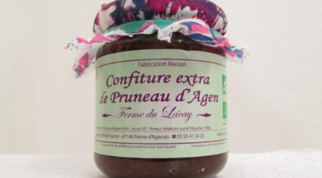 ferme du Lacay, Confiture Extra de Pruneaux d'Agent BIO