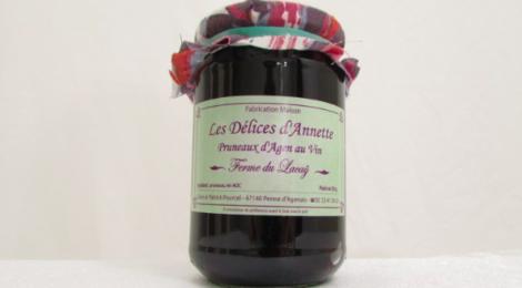ferme du Lacay, Les Délices d'Annette, pruneaux d'agent au vin