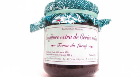 ferme du Lacay, Confiture Extra de Cerise noire