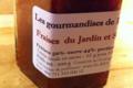 Confiture de fraise du jardin au safran