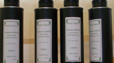domaine Laffon, huile d'olive citron