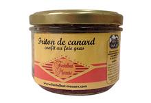Charcuterie Fontalbat Mazars, friton de canard au foie gras