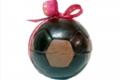 Albert chocolatier, Ballon de foot 15cm noir et décor lait